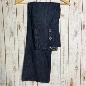 NYDJ sailor style dark wash wide leg Jean's
